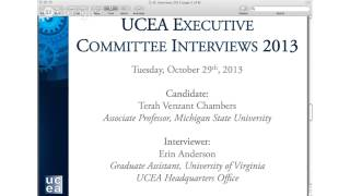 2013 UCEA EC Interview- Terah Venzant Chambers