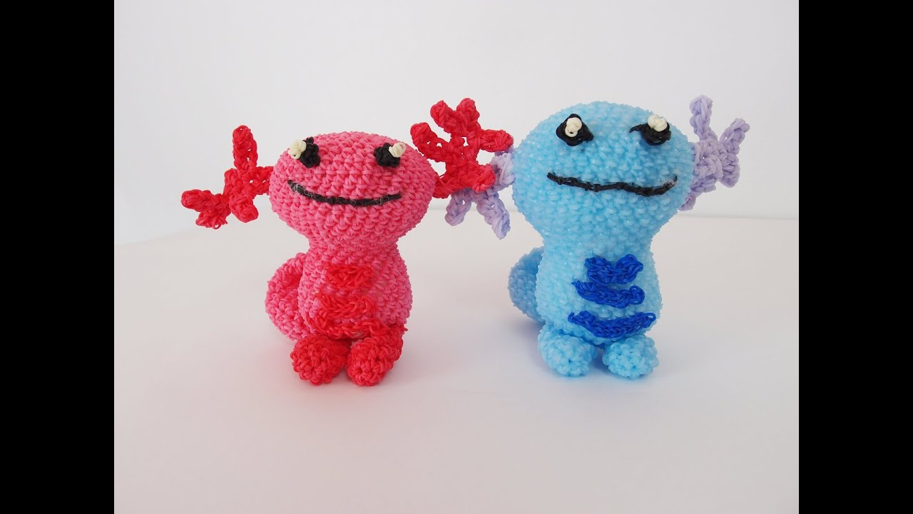 Amigurumi Loom Patterns : Wooper pokemon rainbow loom bands amigurumi loomigurumi hook only