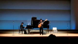 ピアノ弾き語り吟詠にベースを即興で合わせてみました。 2014新座音フェ...