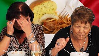 Italian Grandmas Try Frozen Pasta