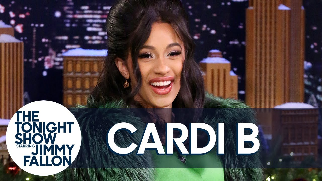 Image result for cardi b on jimmy fallon