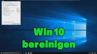 Windows 10 Datenträgerbereinigung - einfach Speicherplatz schaffen / aufräumen