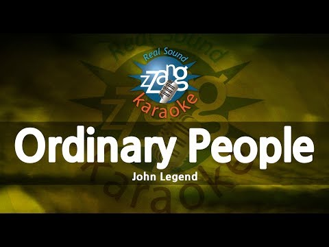John Legend-Ordinary People (-1key) (Melody) (Karaoke Version) [ZZang KARAOKE]