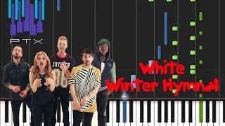 Pentatonix - White Winter Hymnal [Synthesia Tutorial]
