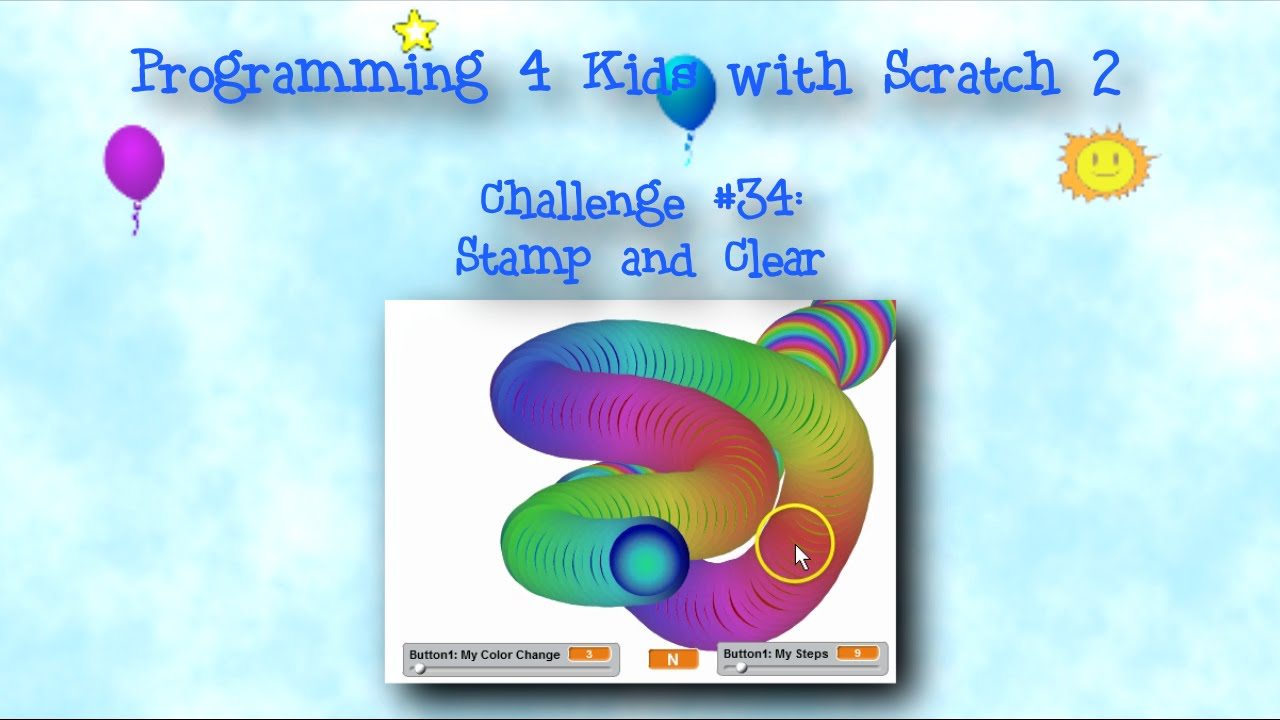 Programming 4 Kids In Scratch 2 Challenge 34