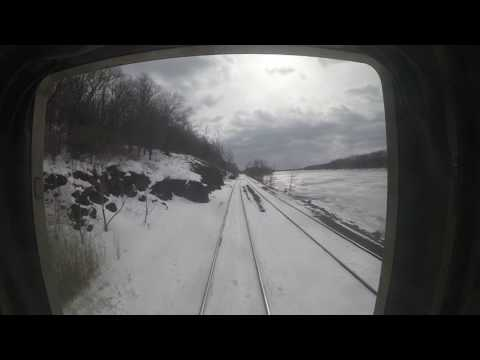 Amtrak Hudson Line: Train 281 Hudson to Albany-Rensselaer w/ Snow
