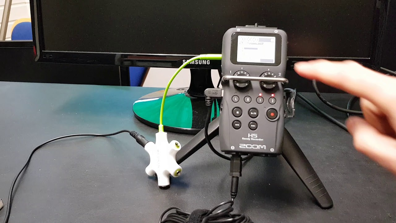 Setting up a Zoom H5 Recorder with Lavalier Microphones