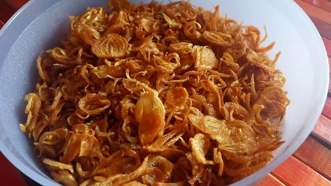 Cara Membuat Bawang Goreng Original Renyah  Resep Awet Tanpa Tepung
