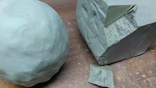 Как увлажнить глину, если она немного пересохла