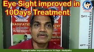 Eye vision  better improvement in 10 Days - Nadipathy