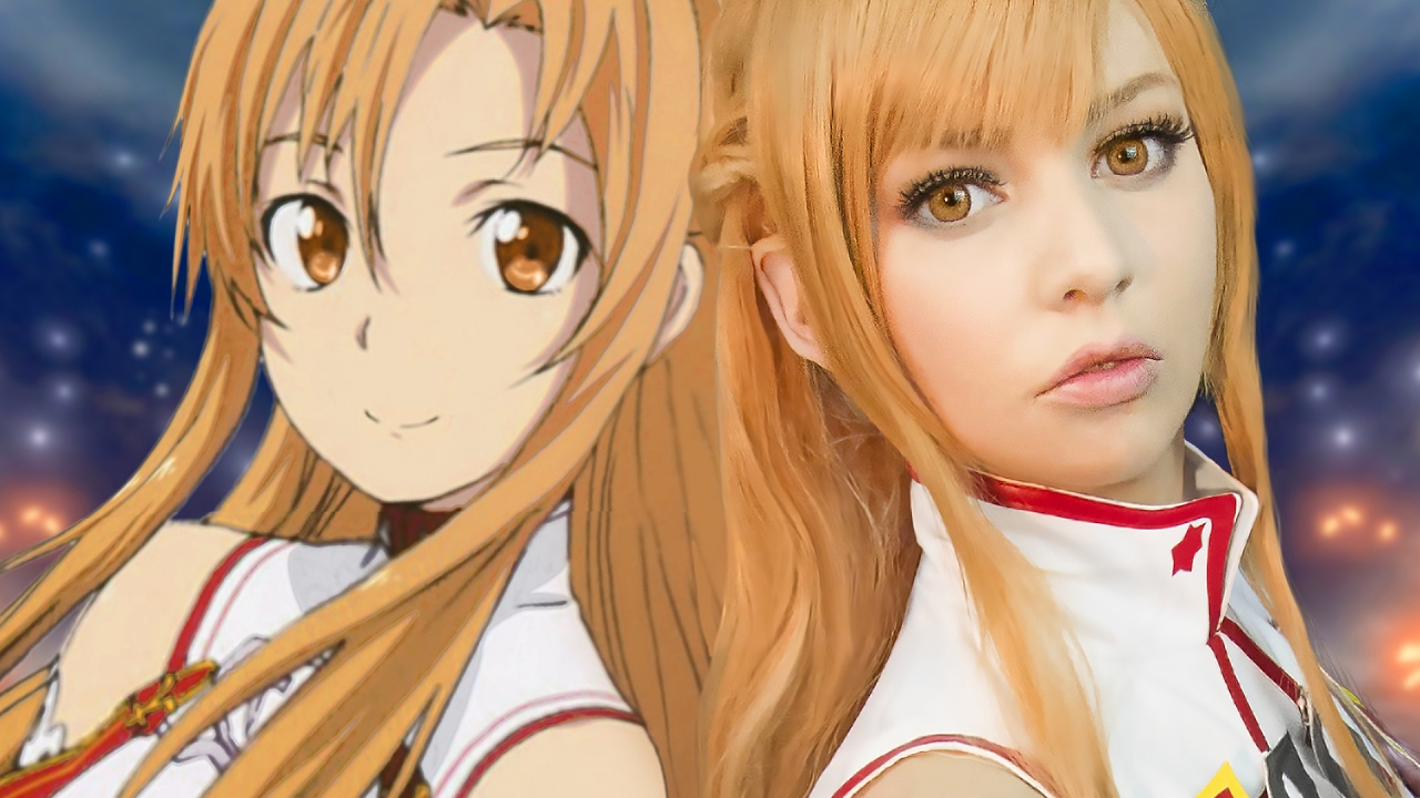 Asuna Yuuki Cosplay Makeup Tutorial Sword Art Online Â�ード