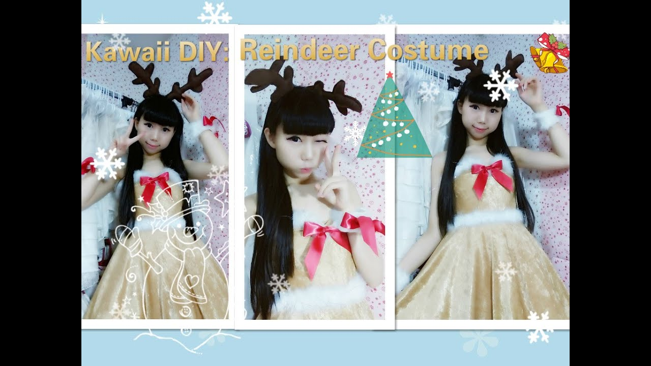 Holiday DIY - How to Make a Cute Christmas Reindeer costume/dress ...