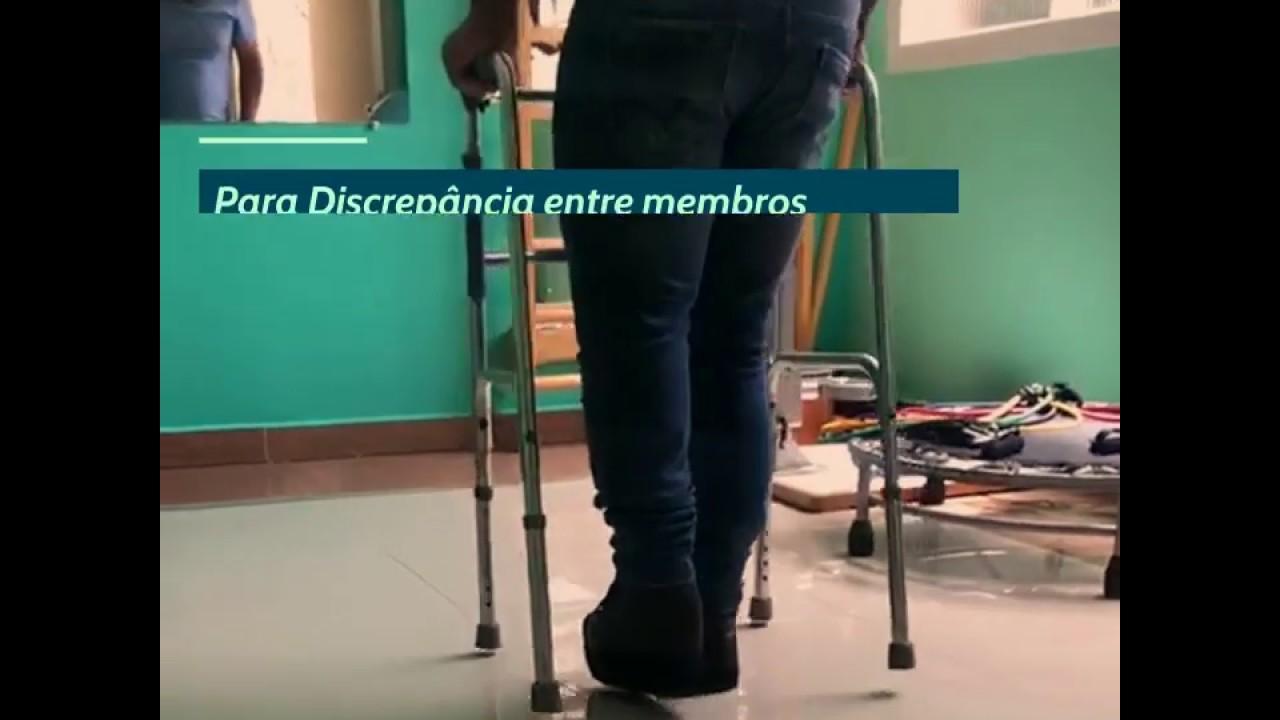 Sapato Ortopédico para Discrepância entre Membros