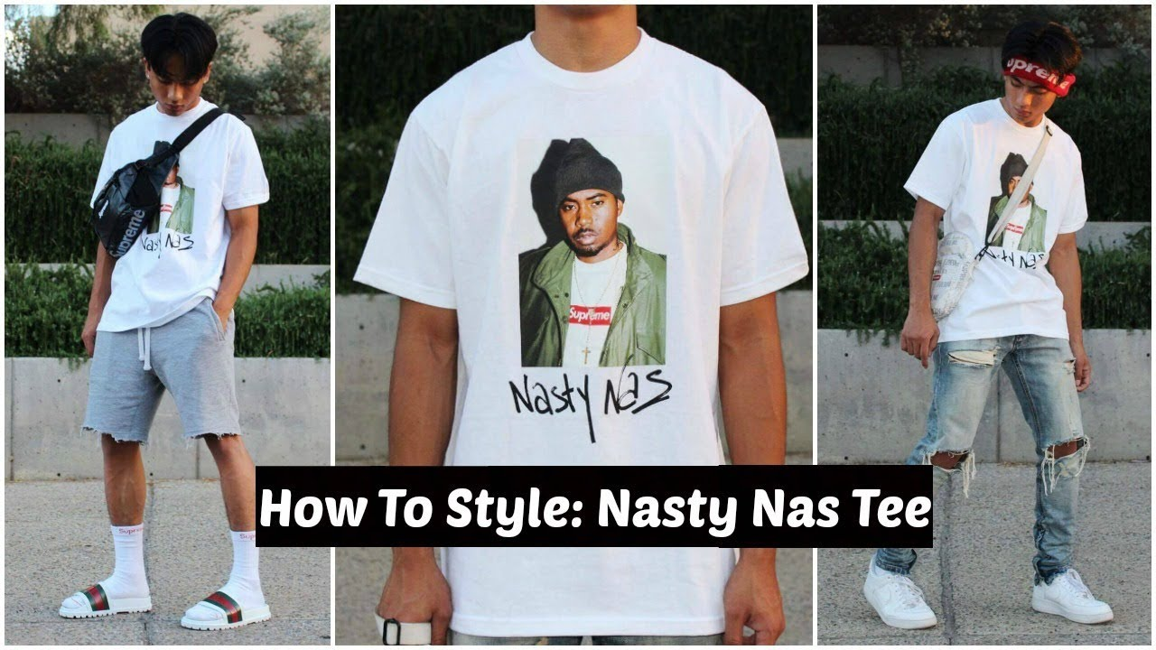 a13e26a9 How To Style: Supreme FW17 Nasty Nas Tee (GIVEAWAY WINNER) - YouTube