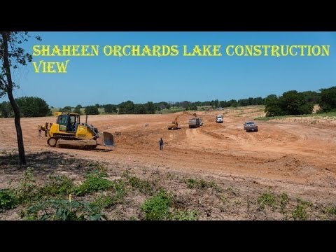 Shaheen Orchards Lake Construction View