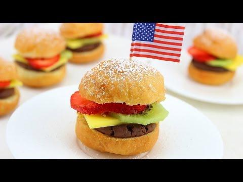 Frucht Burger / Mini Burger mit Früchten