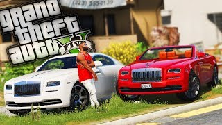 BUYING a Rolls Royce Wraith & a Dawn w/ The Bloods! - GTA 5 Real Hood Life - Day 26