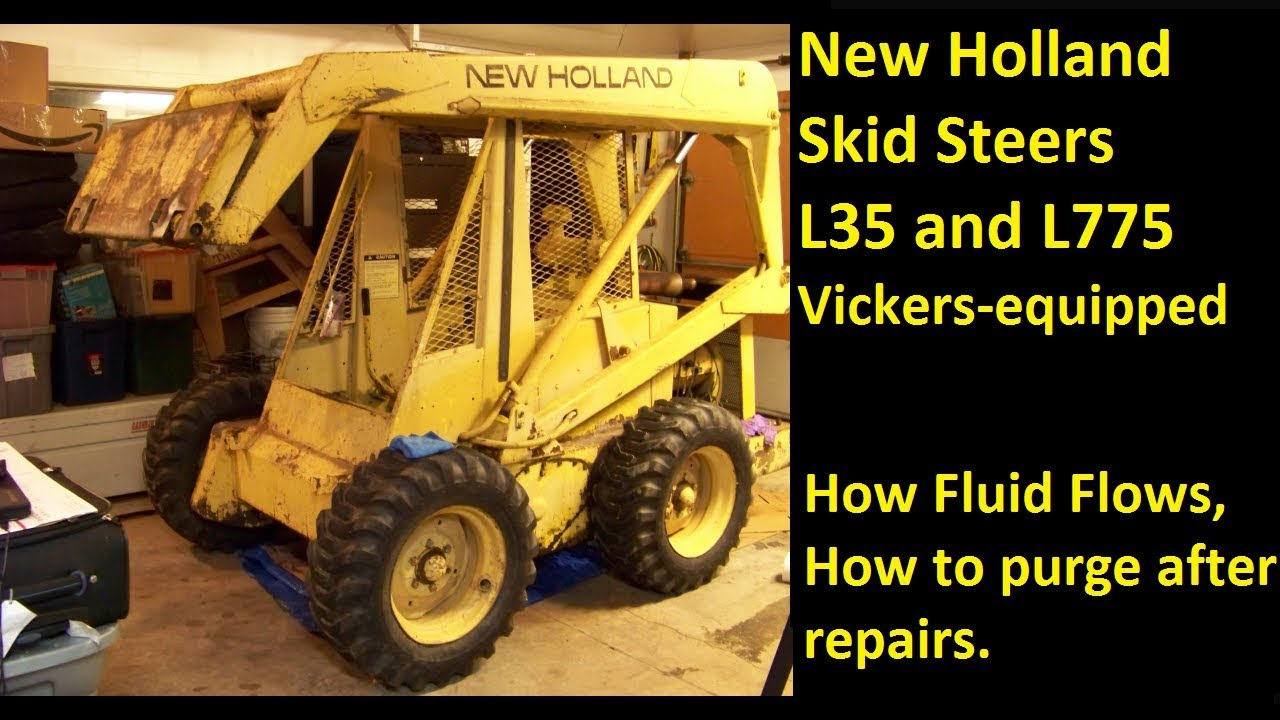 New Holland L35 L775 Skid Steer Vickers Explaining The