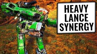 HEAVY FIREPOWER! - HEAVY MECH LANCE SYNERGIES- Mechwarrior 5: Mercenaries - MW5 Beta