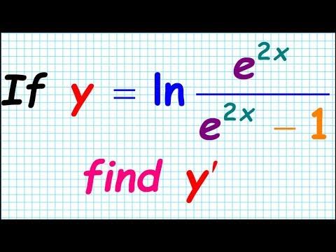 How to differentiate ln (e^2x/( e^x-1) Derivative Differentiation Collection Chain Rule CR9 AP Calc