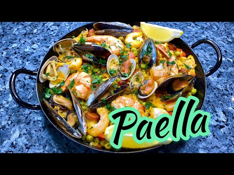 PAELLA | SEAFOOD PAELLA | SPANISH PAELLA RECIPE | HOW TO MAKE PAELLA