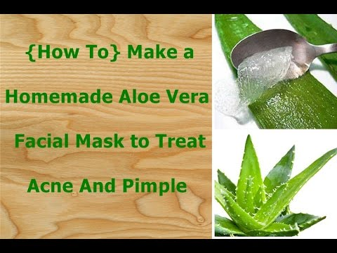how to make a homemade aloe vera facial mask to treat acne and pimple youtube. Black Bedroom Furniture Sets. Home Design Ideas