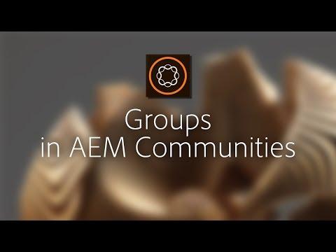 Groups in AEM Communities