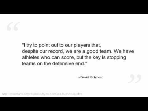 David Richmond Quotes