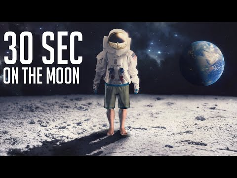 What If You Spend Just 30 Seconds On The Moon Without A Spacesuit?
