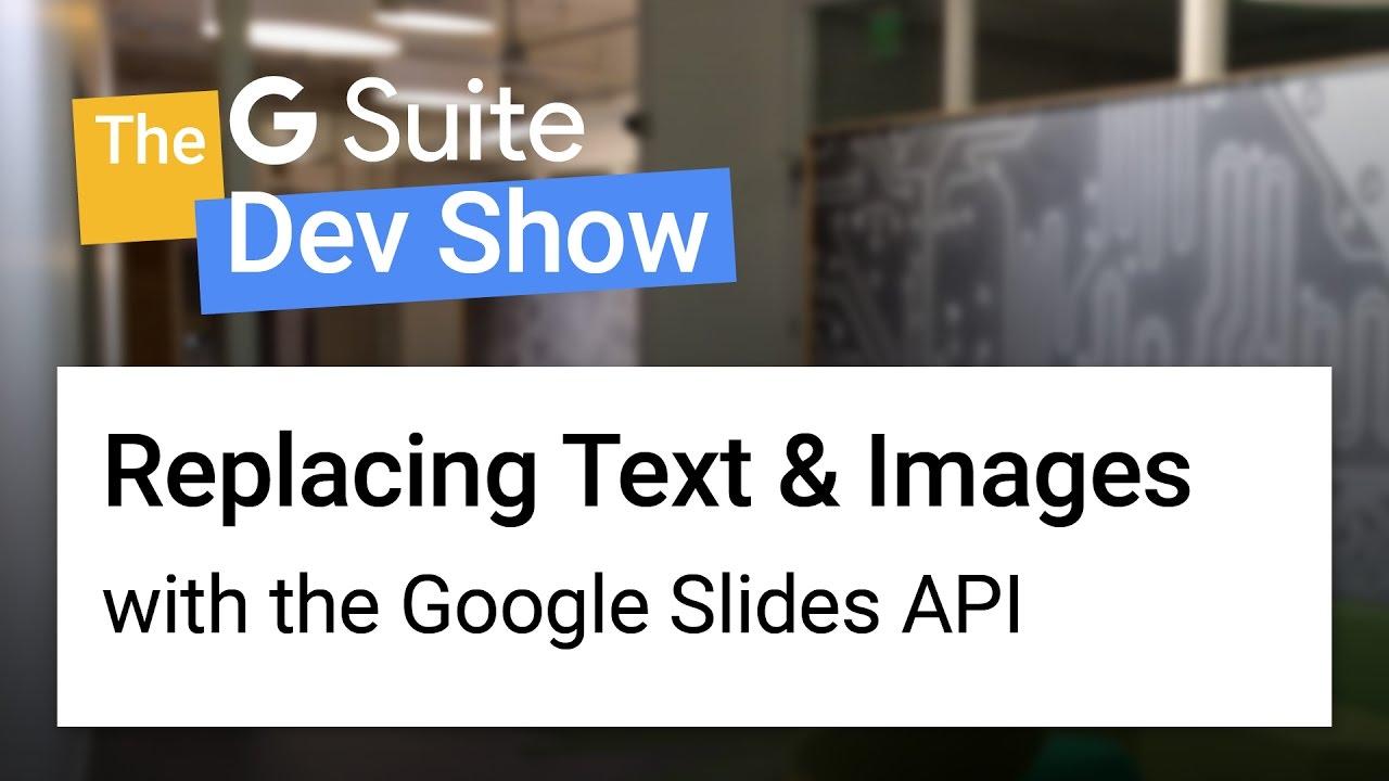 Google Developers Blog: Introducing the Google Slides API