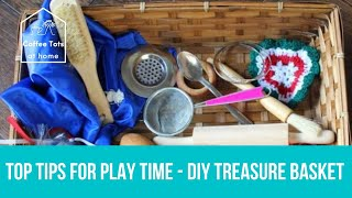 Play time with Ann Tots - making a treasure basket