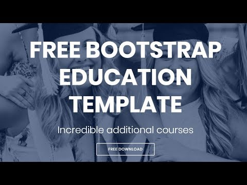Bootstrap Education Template - Free HTML Website Templates
