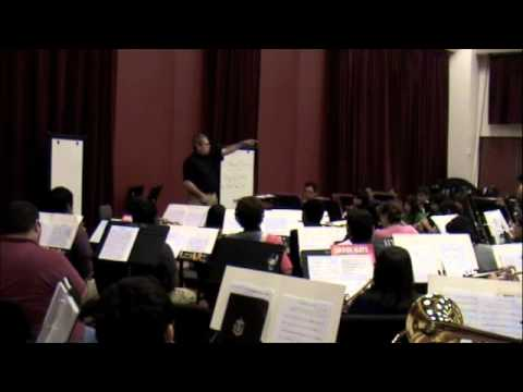 Shoop  UT- Brownsville Wind Ensemble Rehearsal Fall, 2013  O Magnum Mysterium