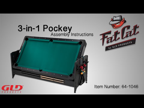 How To: Fat Cat 3-in-1 Pockey® Table Assembly Instructions