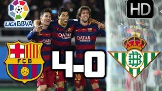 Barcelona vs Betis| RESUMEN Y GOLES HD| LIGA BBVA| 30-12-2015
