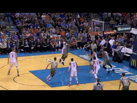 Steven Adams With The MONSTROUS Block On Dion Waiters