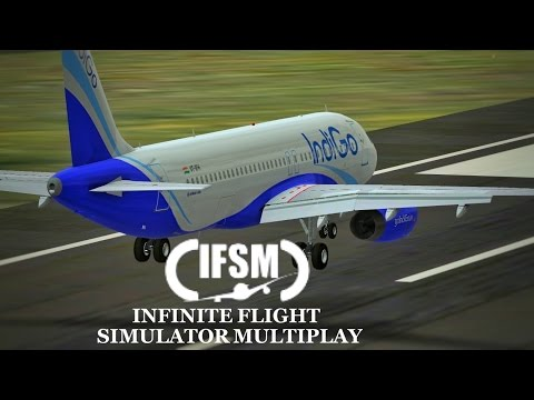 Infinite Flight Simulator IndiGo Airlines  Airbus A320 - Lon