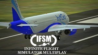 Infinite Flight Simulator IndiGo Airlines  Airbus A320 - London region