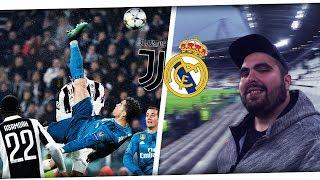 RONALDO FALLRÜCKZIEHER LIVE REACTION aus dem STADION😱 JUVENTUS vs REAL MADRID 0-3 Stadion Vlog PMTV