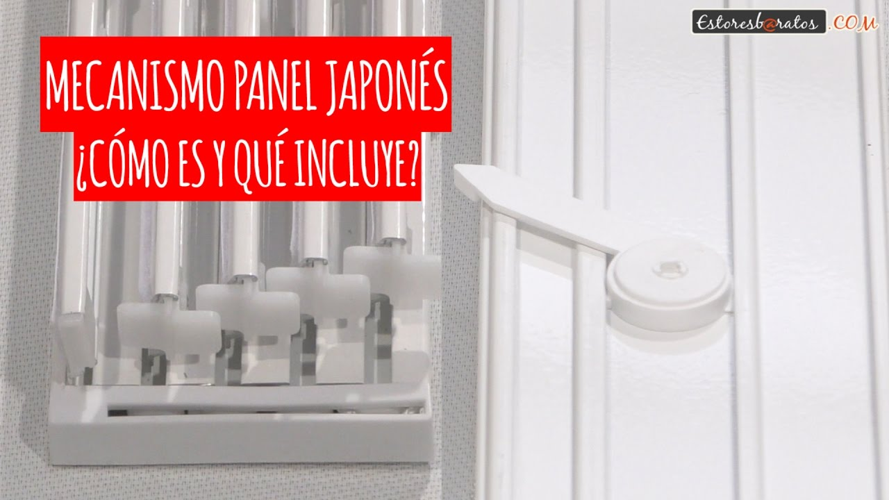 Riel mecanismo panel japon s c mo es y qu incluye youtube - Como colocar panel japones ...