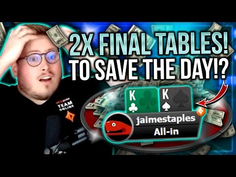 TWO FINAL TABLES TO SAVE THE DAY!? - PokerStaples Stream Highlights - 동영상