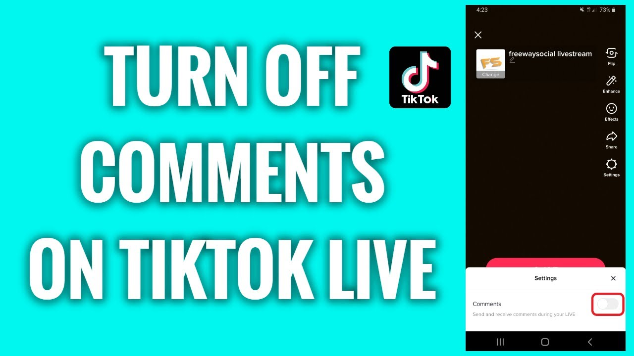 How To Turn Off Comments On Tiktok Live Freewaysocial