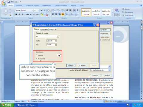Word 2007 Imprimir documentos - YouTube