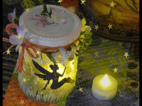 How to Make a Fairy Lantern in a Glass Jar -- DIY Fairy Night Light!