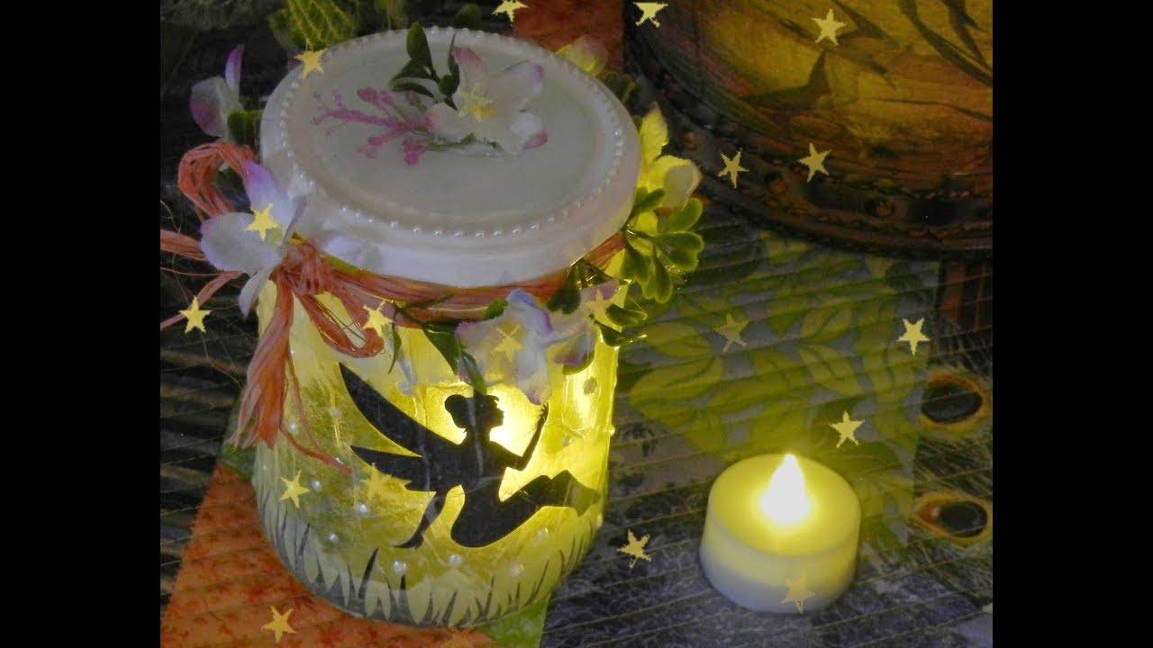 How To Make A Fairy Lantern In A Glass Jar Diy Fairy Night Light Youtube