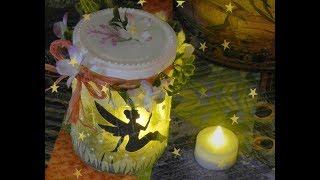 How to Make a Fairy Lantern in a Glass Jar -- DIY Fairy Night Light!