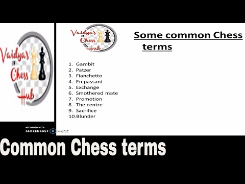 Know these common Chess terms