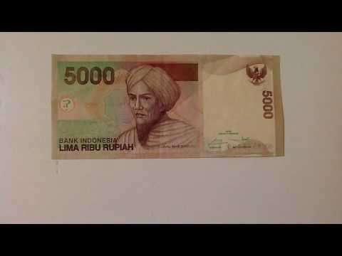 5000 Rupiah Note From Bali