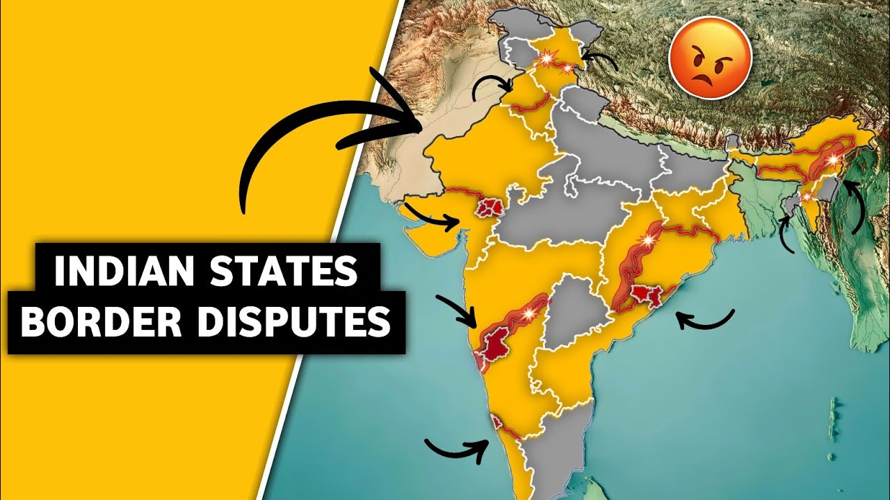 Inter State Border Disputes In India   Why This States Are Fighting With Eachother