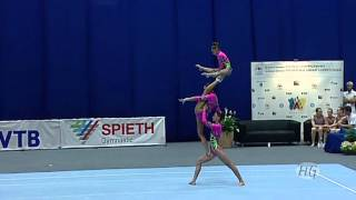 Acrobatic Gymnastics World Championships 2010 - Russia Women's Group 1st place(I decided to post this video after many comments on the 3rd place trio from Ukraine. Many said